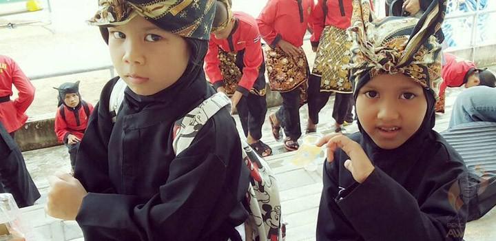 Students of Keluarga Pencak Silat (KPS) Nusantara