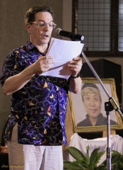 Pak Alan Feinstein, Sahabat membacakan kenangan manis bersama Guru O'ong Maryono