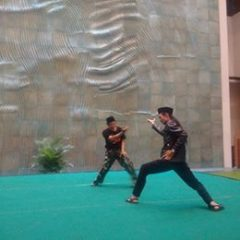 Practicing Silat performance for the opening event