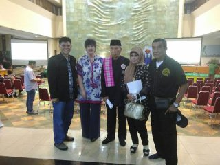 Taking photo with VIP guests