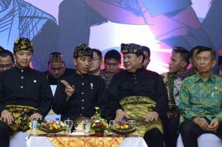 Presiden RI Joko Widodo Bersama Presiden Persilat Prabowo Subianto (Foto by @jokowi)