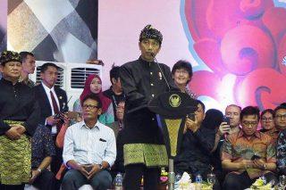 Presiden Joko Widodo Menutup Kejuaraan Dunia Silat ke 17 (Foto Kyo Ko)