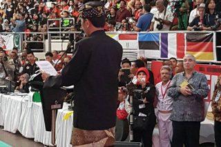 Presiden Presiden Joko Widodo Menutup Kejuaraan Dunia Silat ke 17 (Foto apfs)