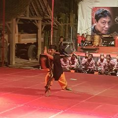 Perforning Pencak Silat by a senior