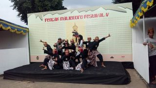 Pencak Silat performance by a group of students