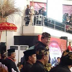 The arrival of the Indonesian Pencak Silat Association, Brabowo Subianto