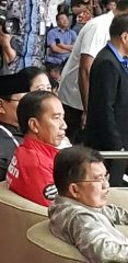 Presiden Jokowi menonton Pencak Silat