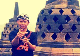 "In Borobudur with ""Gila Silat"" t-shirt"