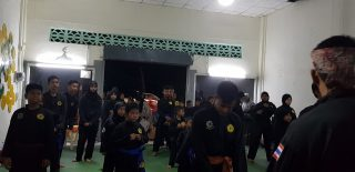 Arrival of Silat students