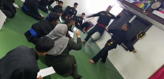 Silat performance after the ceremony