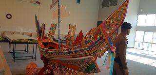 """Kapal tradisional """"Koleh"""" di bandara Narathiwat"""